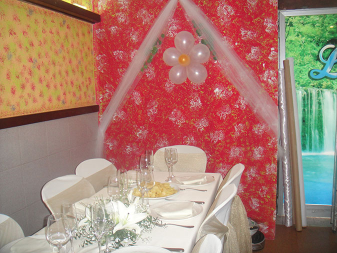 Decoración local boda