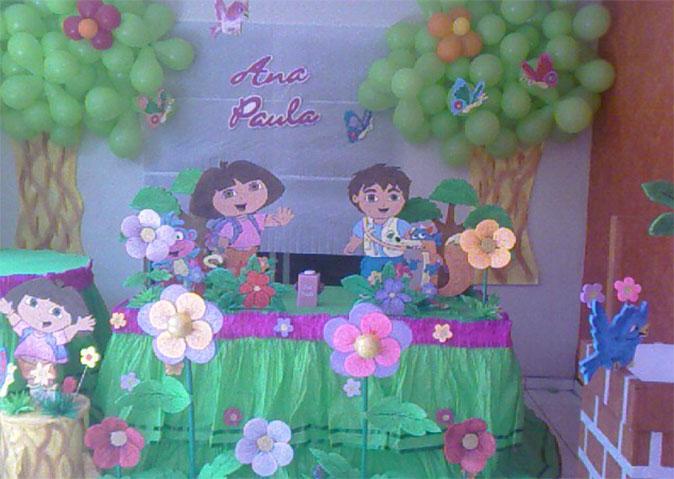 Decoraciones de fiestas infantiles fiestas y pasteles - Decoracion de mesa de cumpleanos infantil ...